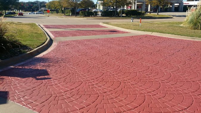 Stamped Driveway, Euopean Fan Site BDC Coatings Grand Prairie, TX