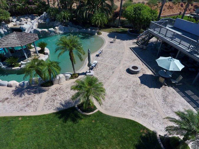 Stamped Patio, Patio After Site KB Concrete Staining Norco, CA