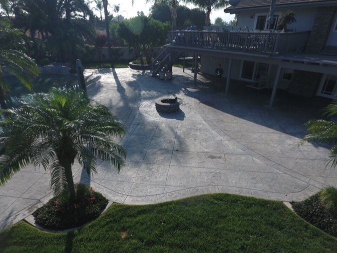 Stamped Patio, Patio Before Site KB Concrete Staining Norco, CA