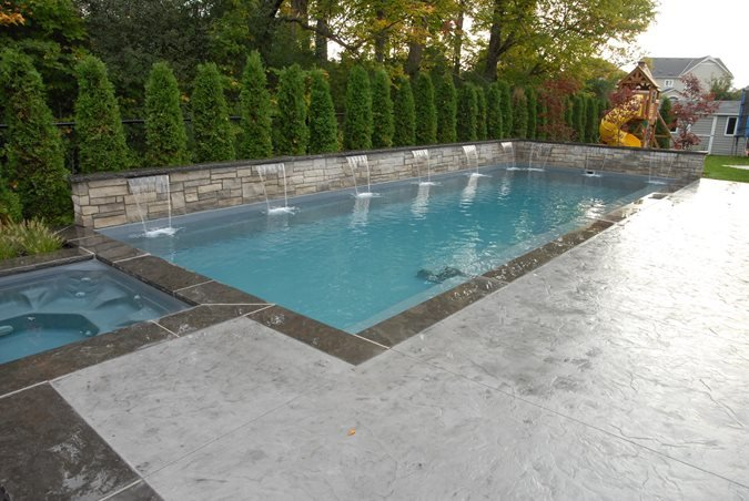 Stamped Pool View Site Elite Crete Design Inc Oshawa, ON