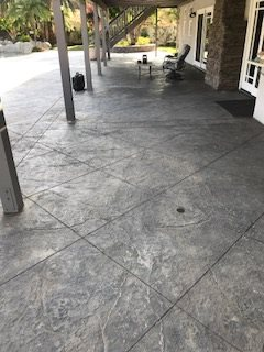 Stamped Porch, Porch Before Site KB Concrete Staining Norco, CA