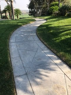 Stamped Sidewalk, Sidewalk Before Site KB Concrete Staining Norco, CA