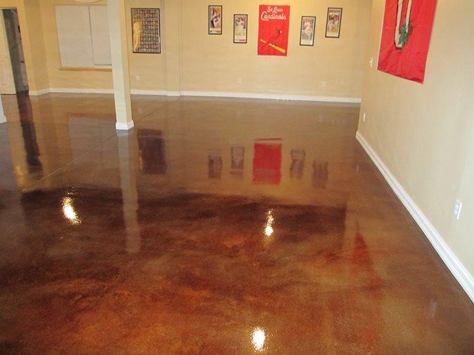 Sunstain, Acid Stain, Gallery Floor Site Sundek of Austin Austin, TX