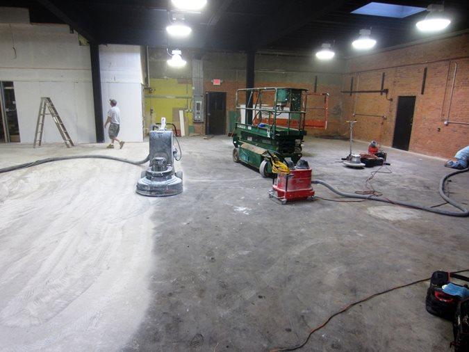 Surface Preparation, Concrete Grinding Site Custom Concrete Solutions, LLC West Hartford, CT