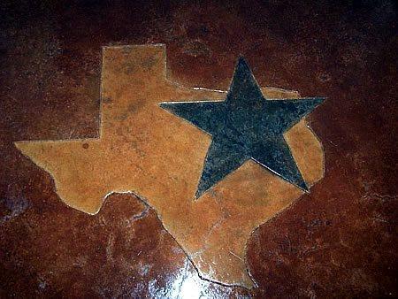 Texas Star, Scored Concrete Site Decorative Crete-Worx Grand Prairie, TX