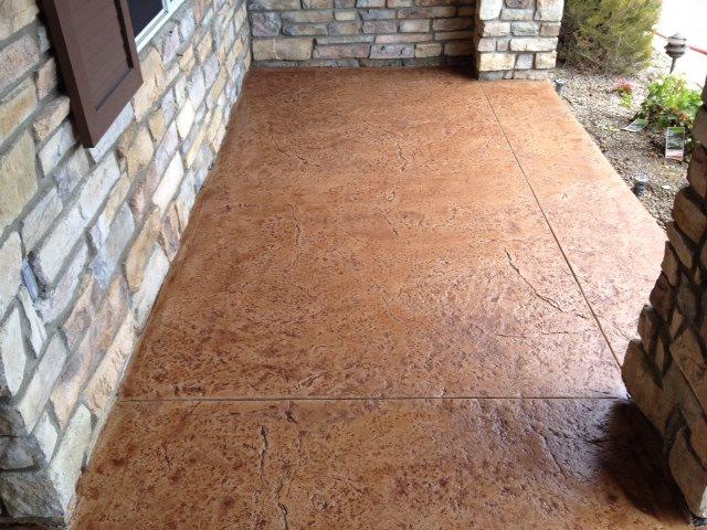 Textured Concrete Site KB Concrete Staining Norco, CA