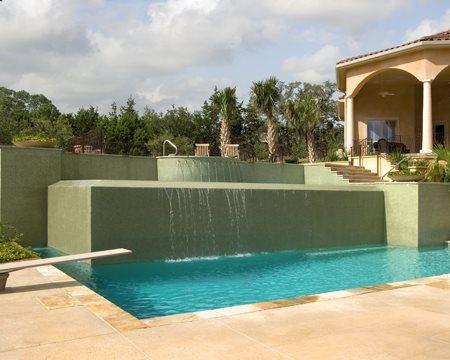 Tiles, Concrete Pool Deck Site Land Design Texas Boerne, TX