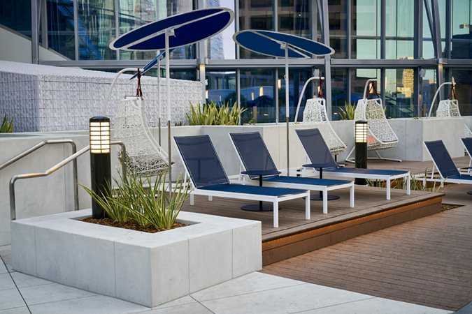 Trademark Concrete Systems, Pool Deck, Wilshire Grand Site Trademark Concrete Systems, Inc. Anaheim, CA