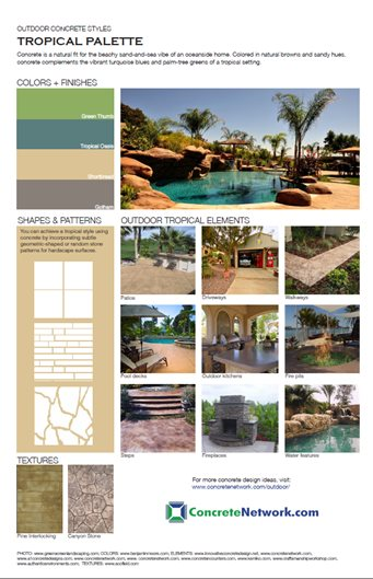 Tropical Design Style Site ConcreteNetwork.com