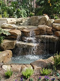 Waterfall, Fountain Site LA Concrete Works West Hills, CA