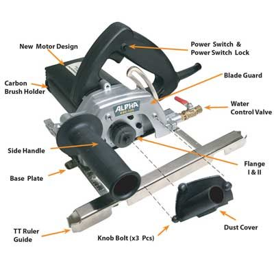 Wet Dry Stone Cutter Site Alpha Professional Tools ® Oakland, NJ