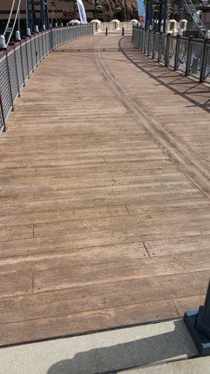 Wood Stamped Concrete, Pedestrian Bridge, Scofield Award Site UCC Group Orlando, FL