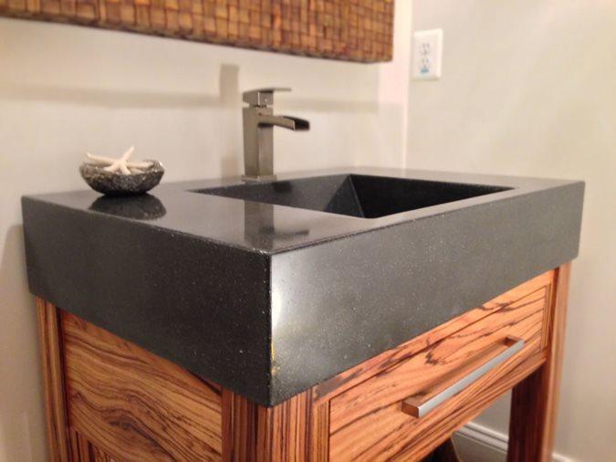 Zebrawood Vanity And Sink Site Cheng Design Berkeley, CA
