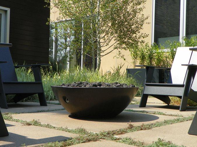 Zen Fire Bowl Site Crete Molds LLC Hartland, WI