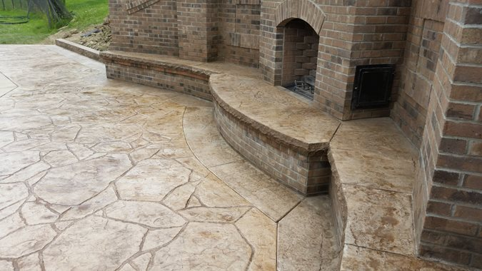 Photo gallery stamped concrete pittsburgh pa the for Pool design mcmurray pa