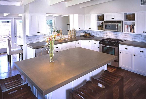 Kitchen concrete countertops the concrete network - Kitchen countertops design ...
