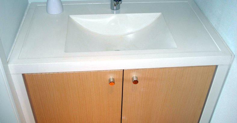 Bathroom Vanity, Cupboards, White Sink Architectural Details Evolution Architectural Concrete Essex, CT