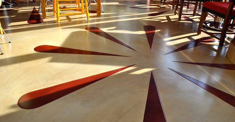 Flower Design, Flower Floor Architectural Details General Coatings Corp. San Diego, CA