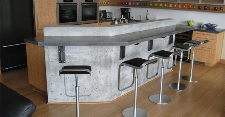 Gfrc Countertop, Gfrc Bar Architectural Details Absolute ConcreteWorks Port Townsend, WA