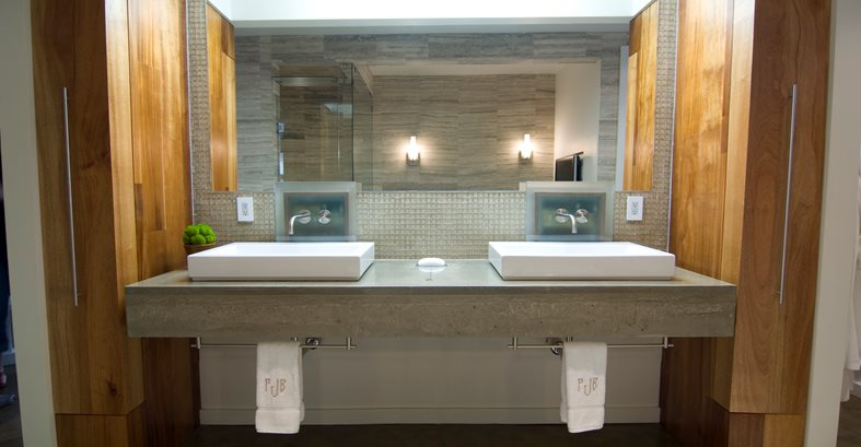 Bathroom Countertops Concrete Designs For Bathroom