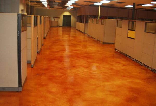 Cement floor covering stellar surfaces for Concrete floor covering