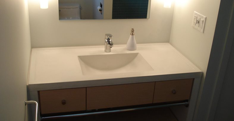Small Sink, Bathroom Sink, Custom Sink Architectural Details Evolution Architectural Concrete Essex, CT