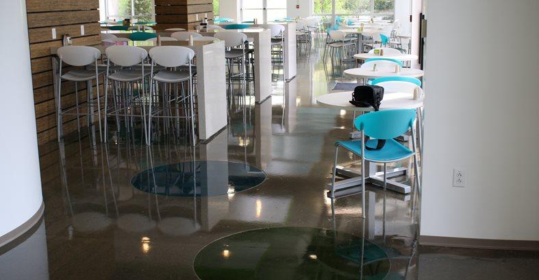 Cafeteria Floor, Polished Floor Commercial Floors Specialty Coatings, Inc Nashville, TN