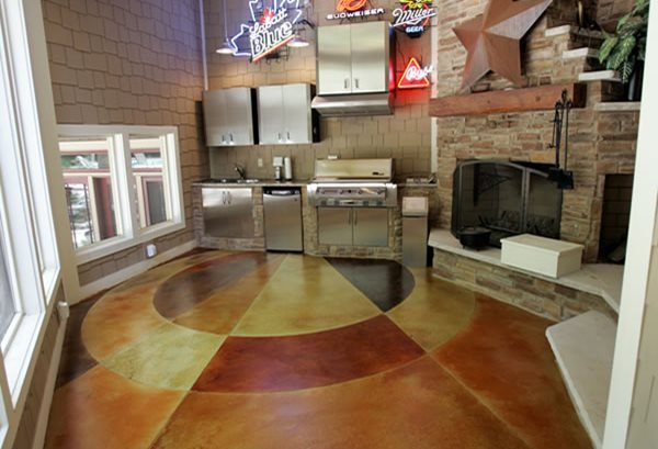 Colored Interior Concrete Floor : Concrete flooring finishing styles colors and options