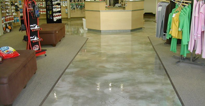 polished grey retail floor commercial floors california concrete designs anaheim ca - Concrete Floor Design Ideas