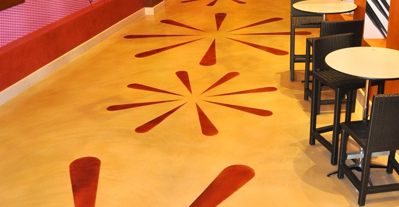 Colorful Coating, Colorful Concrete Concrete Countertops General Coatings Corp. San Diego, CA