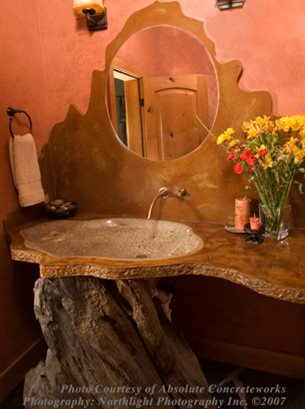 Pond Sink Concrete Countertops Absolute ConcreteWorks Port Townsend, WA