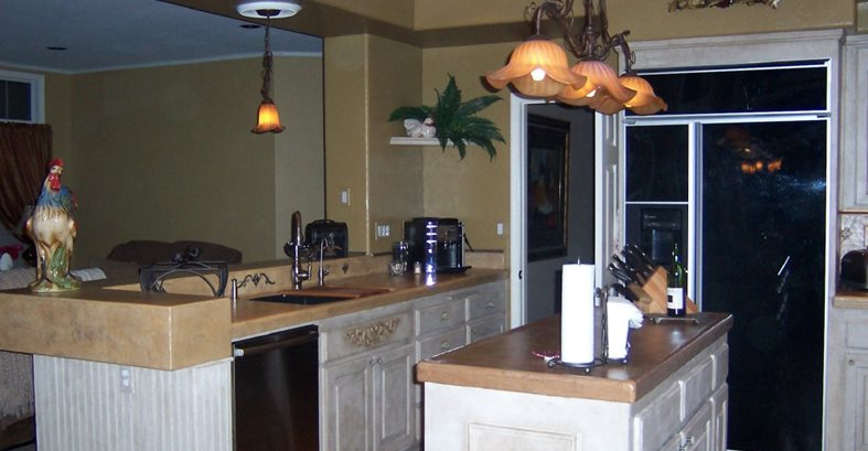 Resurfaced, Mocha Concrete Countertops Beauty-Faux Murrieta, CA