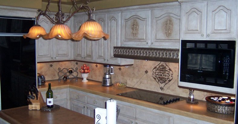 Sand, Backsplash Concrete Countertops Beauty-Faux Murrieta, CA