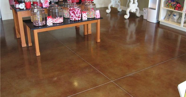 Brown, Store Concrete Floors J Hall Design Jeffersonville, IN