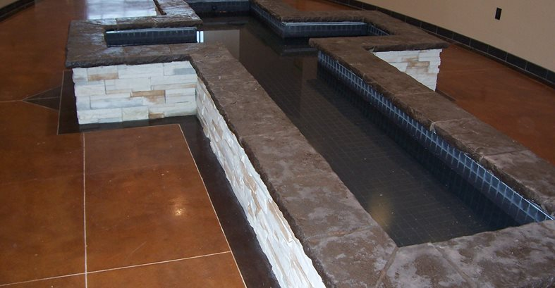Cross Shaped Concrete Fountain Concrete Floors Solid Rock Concrete Services Gravette, AR