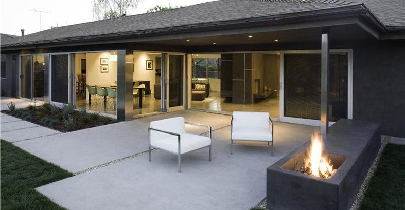 Modern Patio Los Angeles Concrete Patios Modal Design Los Angeles, CA