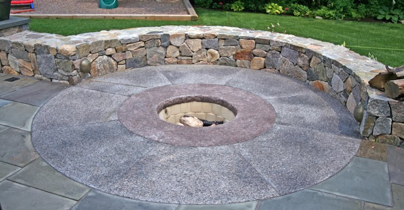 concrete fire pit diy seat inc patio designs images