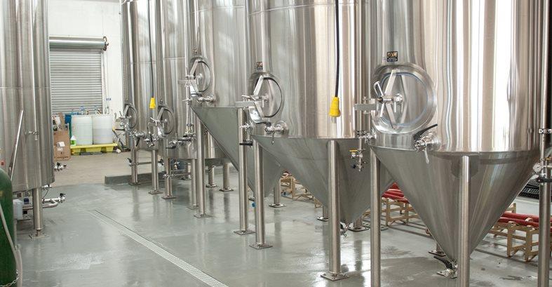 Beer Tanks, Gray Floor Site Westcoat San Diego, CA