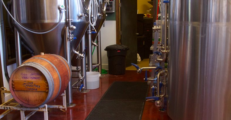 Brewery Equipment, Stained Concrete Flooring Site Westcoat San Diego, CA