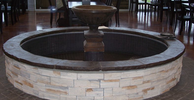 Circle Fountain, Pavers Site Solid Rock Concrete Services Gravette, AR