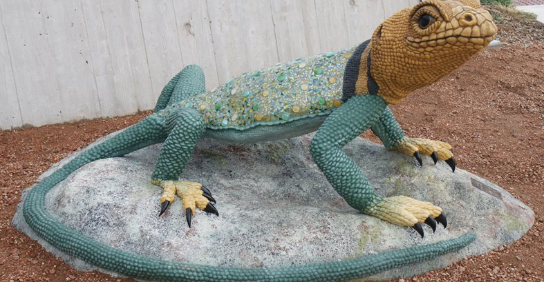 Collared Lizard Sculpture Site Faducci North San Juan, CA