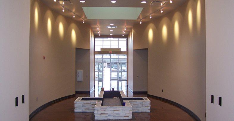 Concrete Floor, Cross Fountain Site Solid Rock Concrete Services Gravette, AR