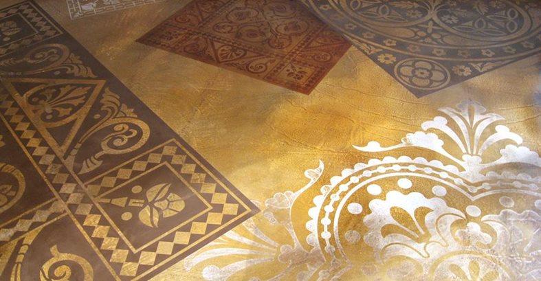 how to create concrete floor graphics