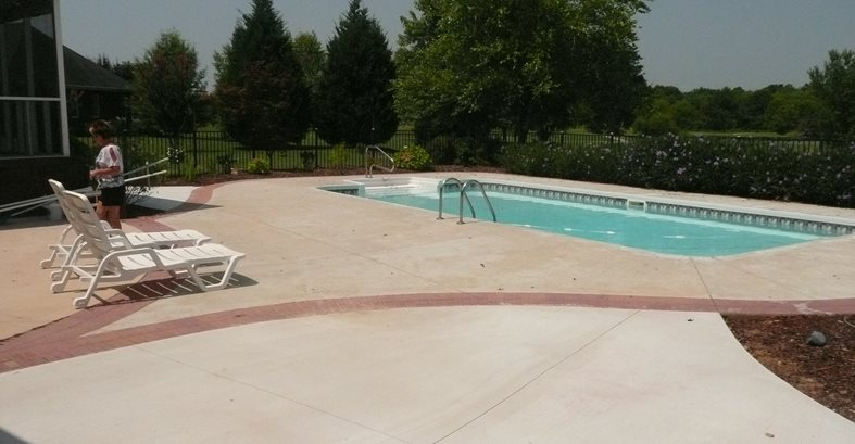 Pool Area Before Site Decorative Concrete Institute Temple, GA