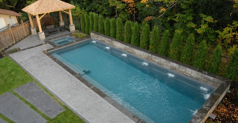 Pool Overhead View Site Elite Crete Design Inc Oshawa, ON