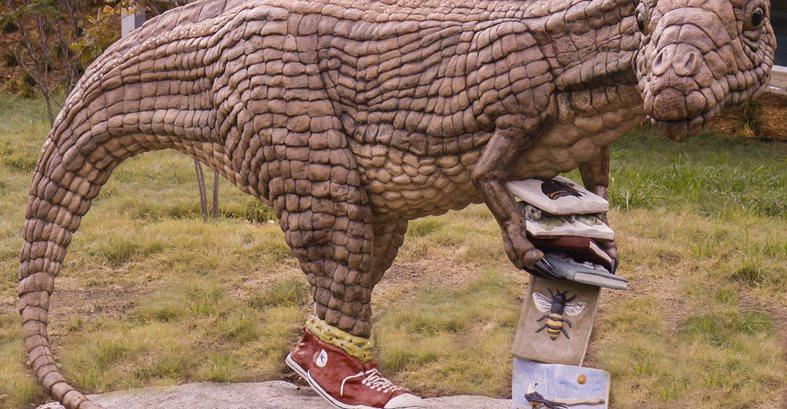 Saurophaganax Dinosaur Sculpture Site Faducci North San Juan, CA