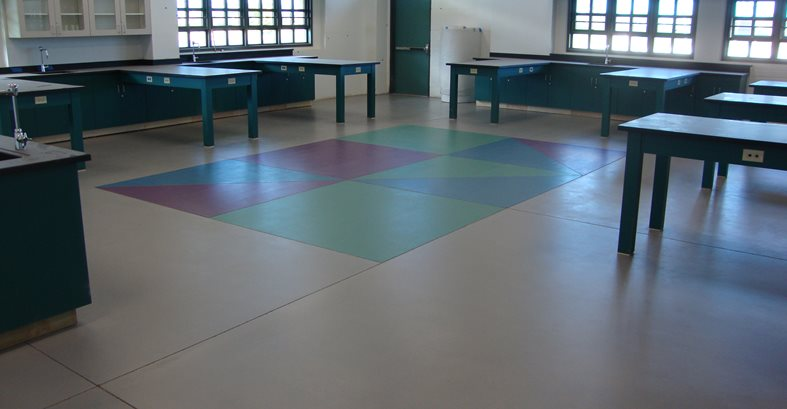 School Floor, Science Classroom Site Tyson's Inc Kailua, HI