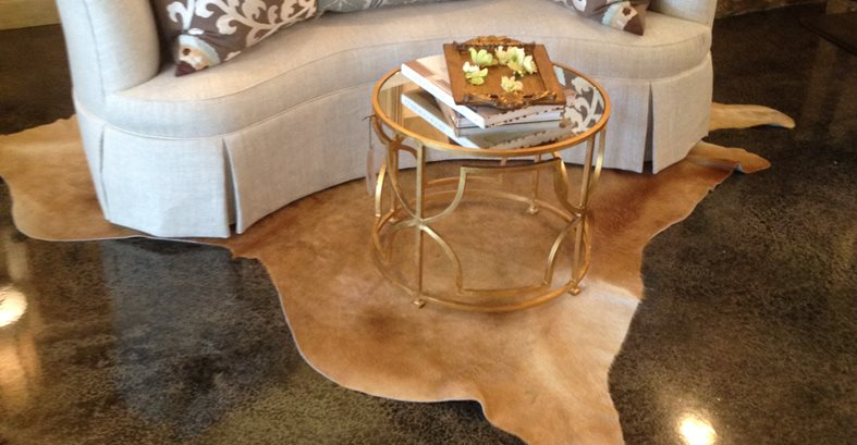 Stains dyes transform home d cor store s floor the for How to make concrete floors shine