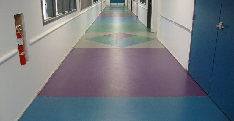 Vibrant Concrete, School Hallway Site Tyson's Inc Kailua, HI