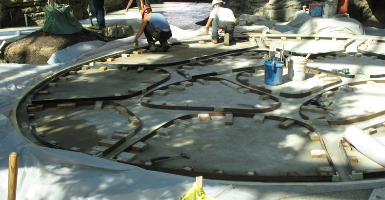 Stamped Concrete Custom Concrete Graphics Traverse City, MI